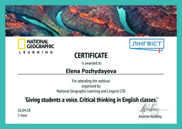 Giving students a voice. Critical thinking in English classes
